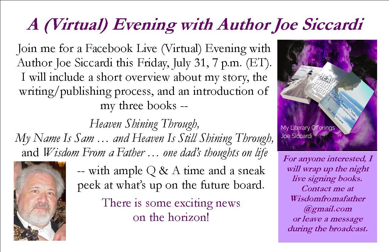 A (Virtual) Evening with Author Joe Siccardi | Father Says…